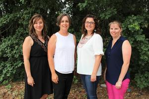 Pictured from left to right are the Lexington Three Teachers of the Year for the 2019-2020 school year:  Kimberly Lawson (BLMS), Allison Cook (BLHS), Kristen Pugh (BLES), and Michelle Maroney (BLPS).