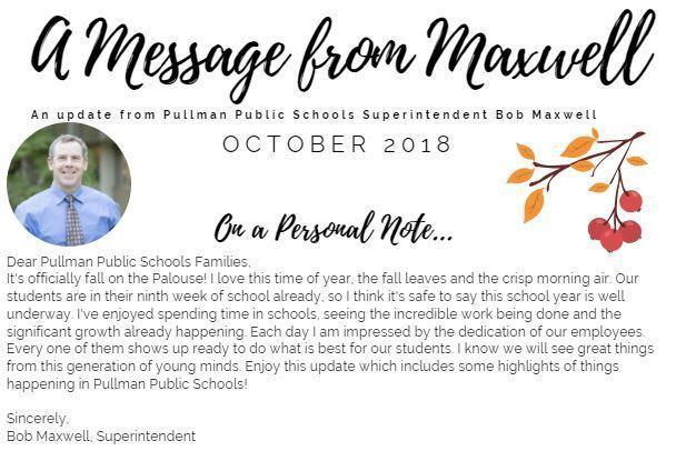 October 2018 Superintendent's Newsletter Thumbnail Image