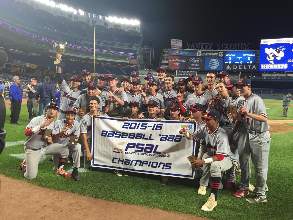 Midwood's 2015-16 Baseball PSAL Champions