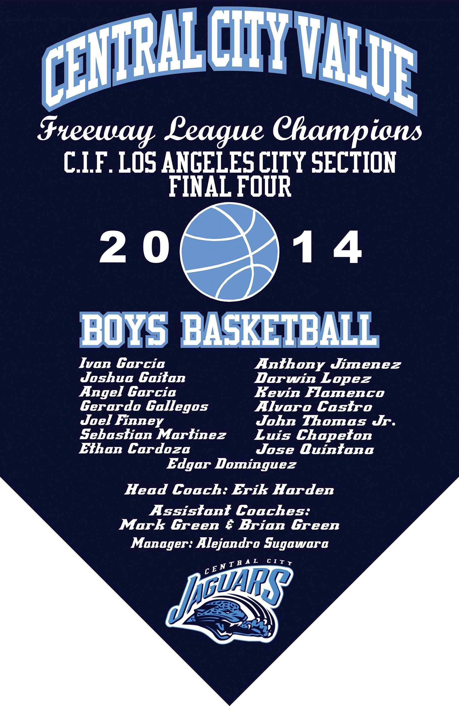 2014 Boys Basketball Final Four Banner