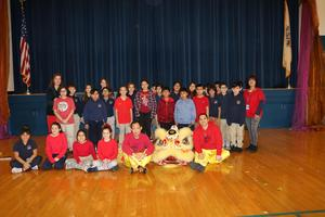 Ms.  Cifarelli's 4th grade class and the performers