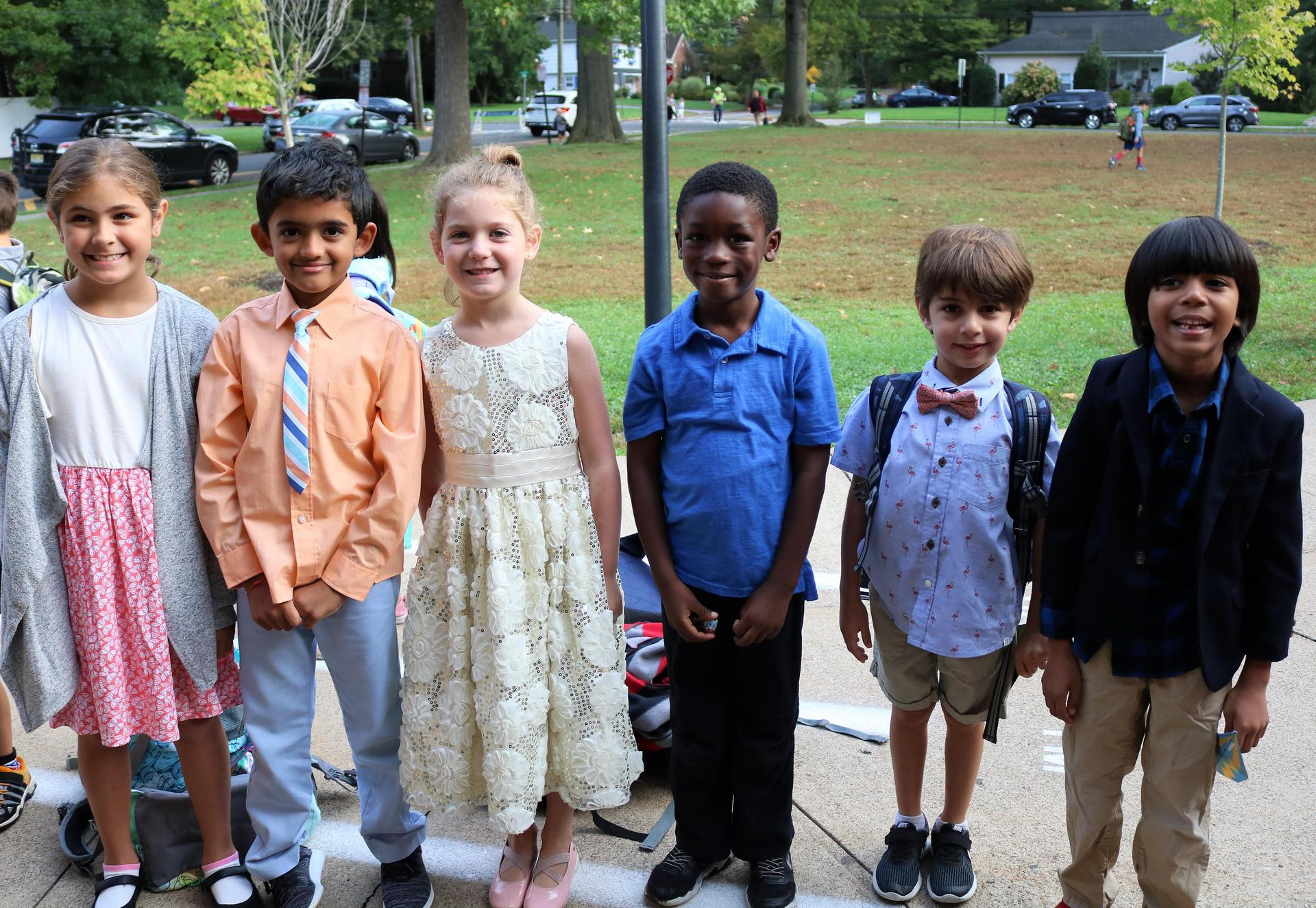 Photo of Jefferson 1st graders dressed for success during Week of Respect