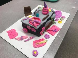 This cake was inspired by Superintendent Rob Blitchok's desk.
