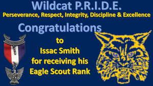 Issac Smith received his Eagle Scout Rank