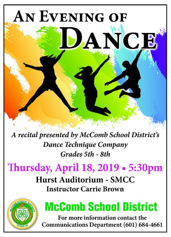 McComb School District's Dance Recital News 2019.