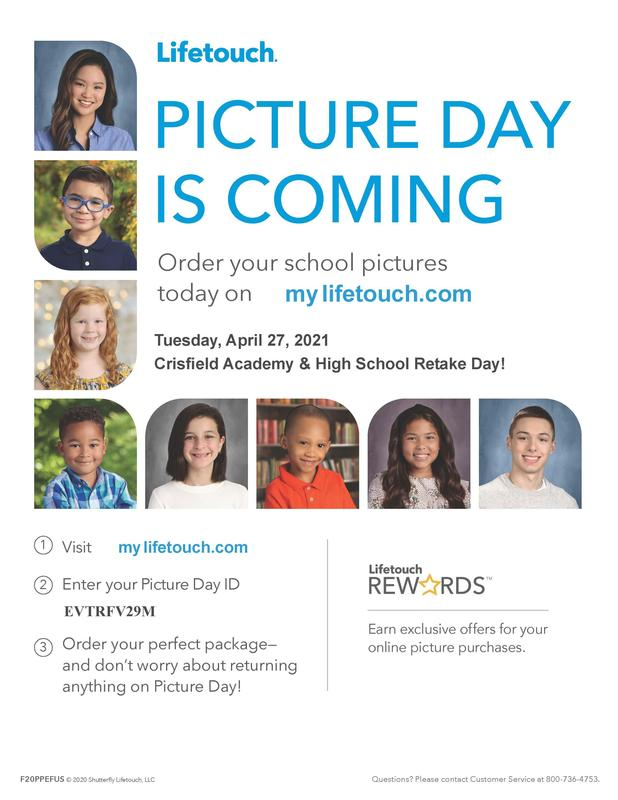Picture Make-up/Retake Day is Tuesday, April 27 Featured Photo