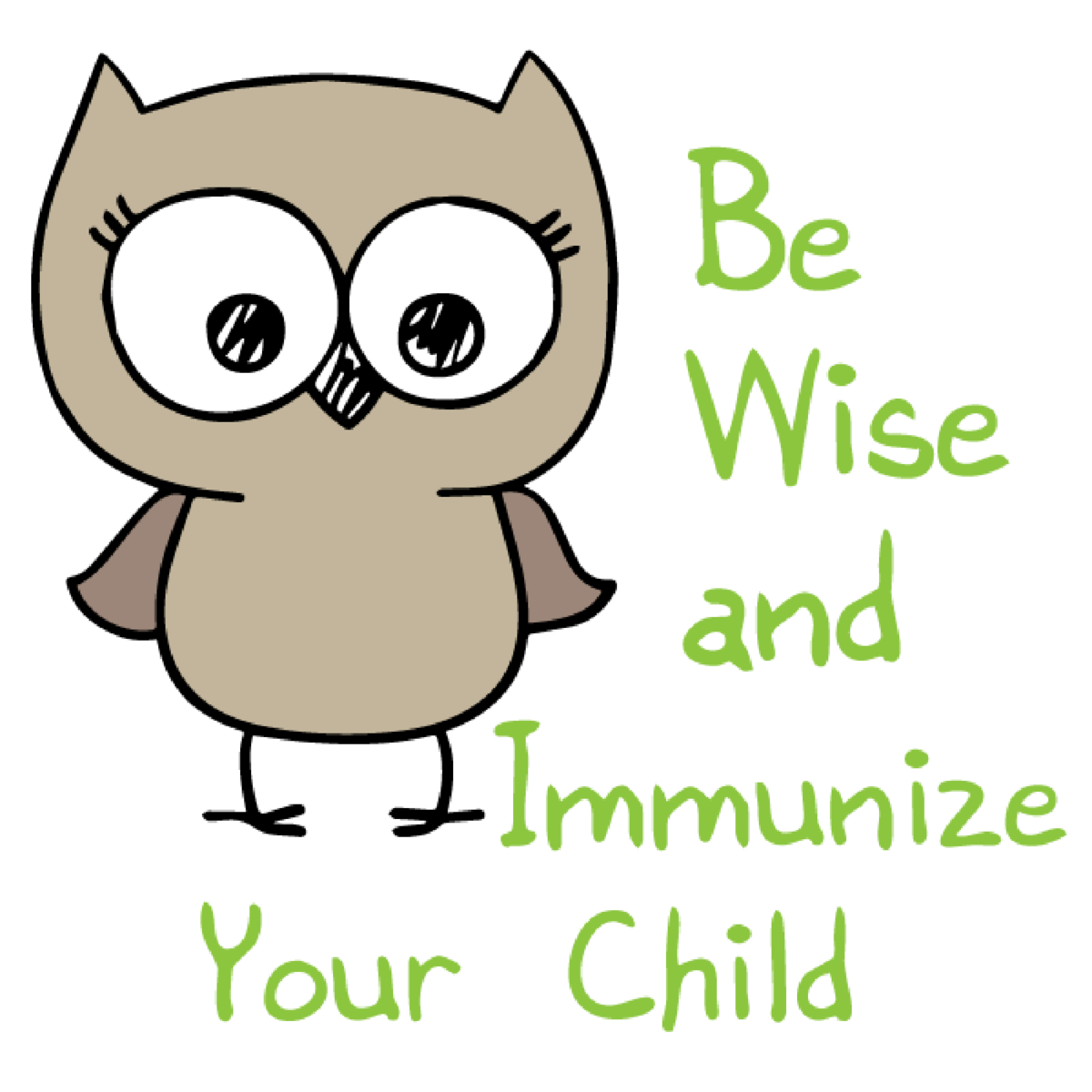 Owl- Be Wise and Immunize your child