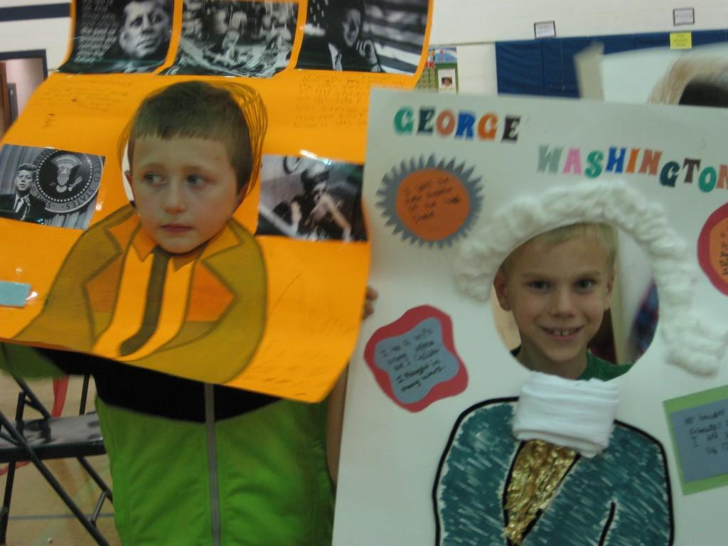 Wax Museum-John F. Kennedy, Jr. and George Washington