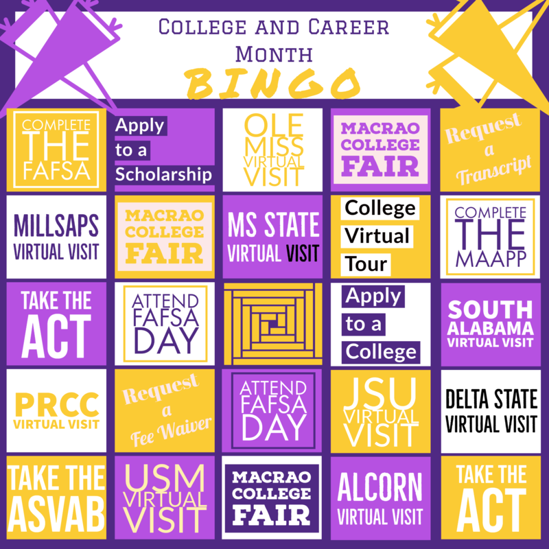 College and Career Month Bingo Featured Photo