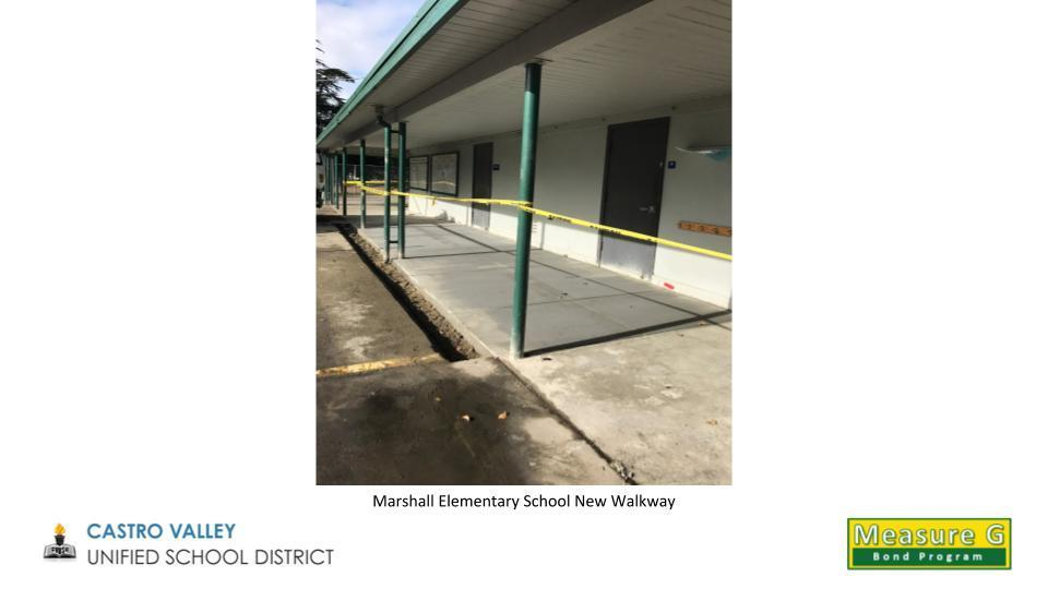 Marshall Elementary School New Walkway