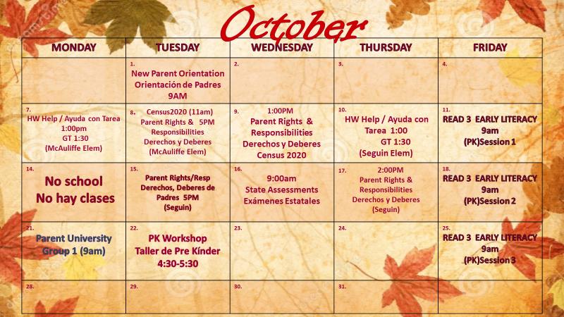October Meetings