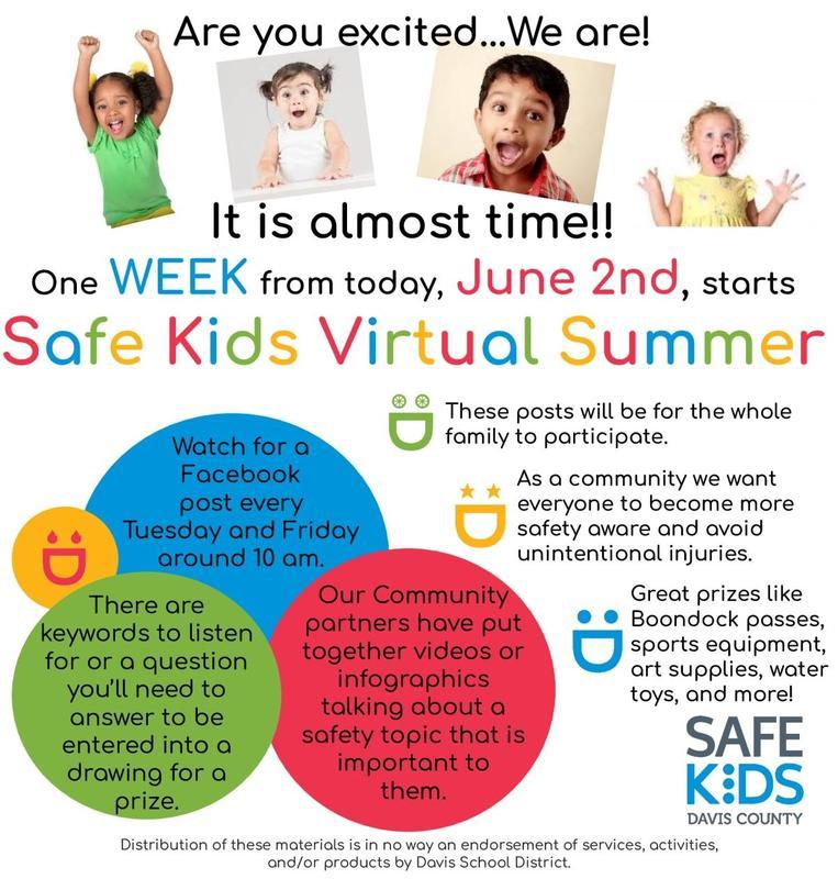 Safe Kids Virtual Summer flyer