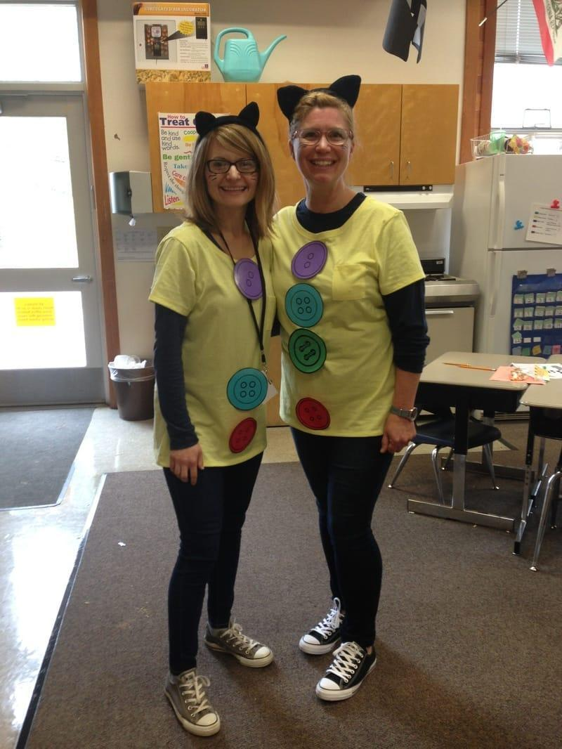 Ms. Ramey and another staff member dressed as twins for twin day