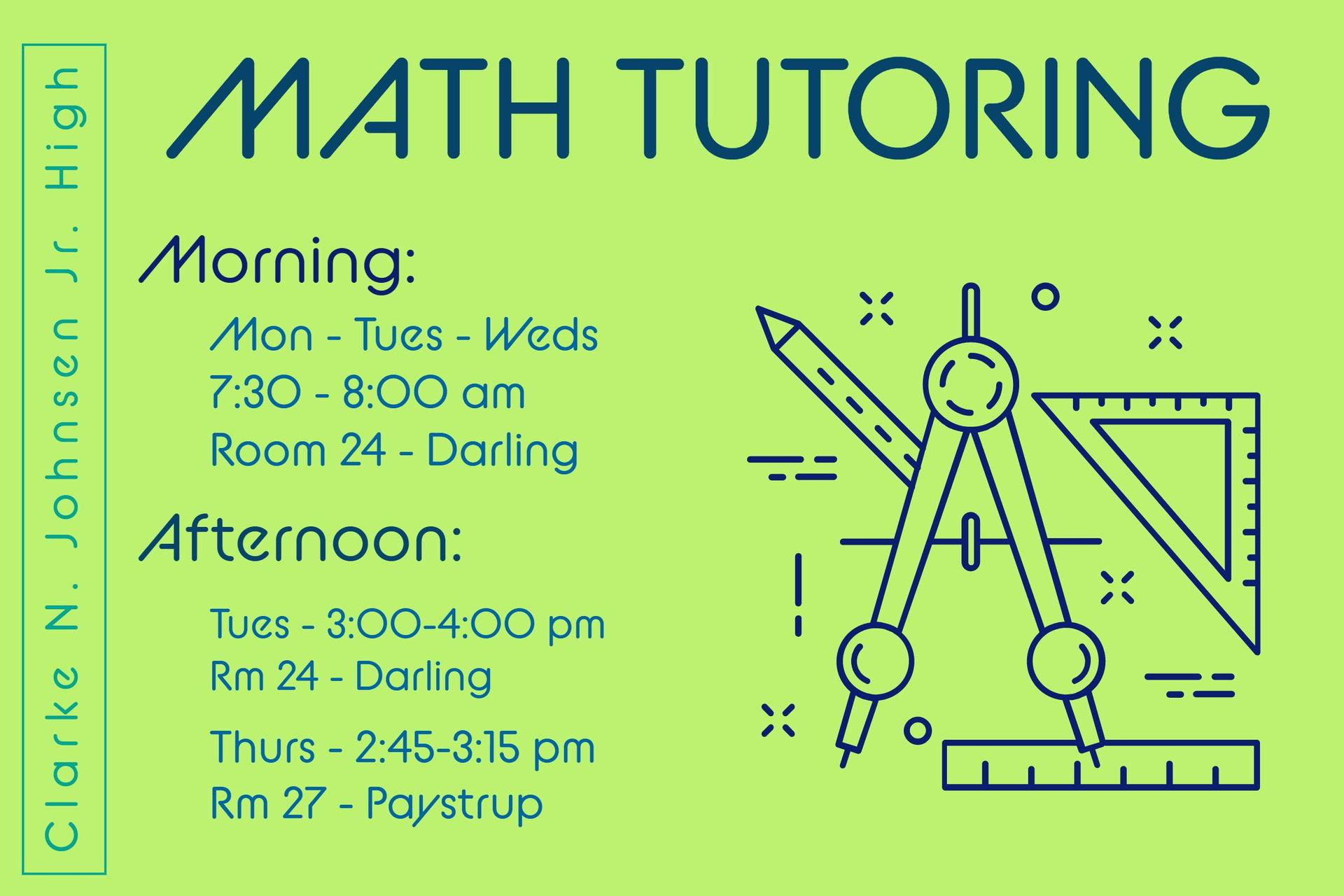 Math tutoring available
