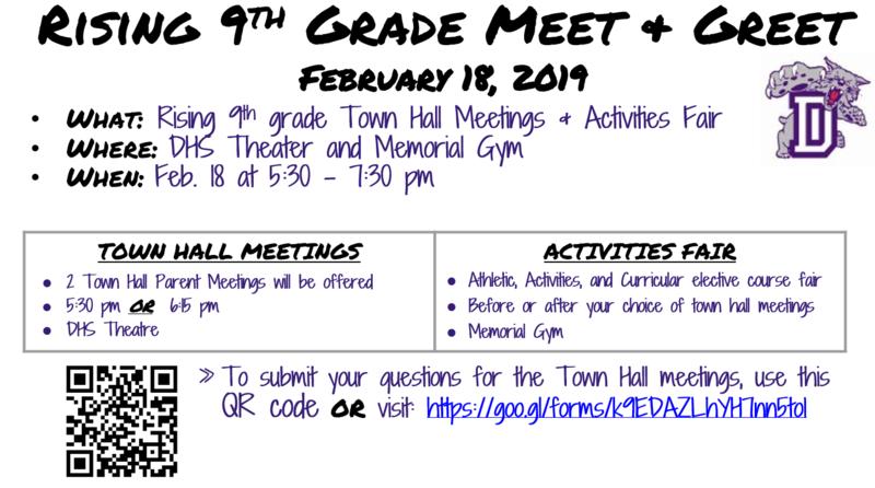 Rising 9th Grade Meet and Greet- Feb. 18 Thumbnail Image