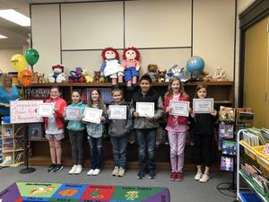 Fourth grade honor roll winners.
