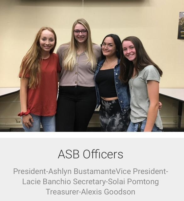 2019-2020 ASB Officers