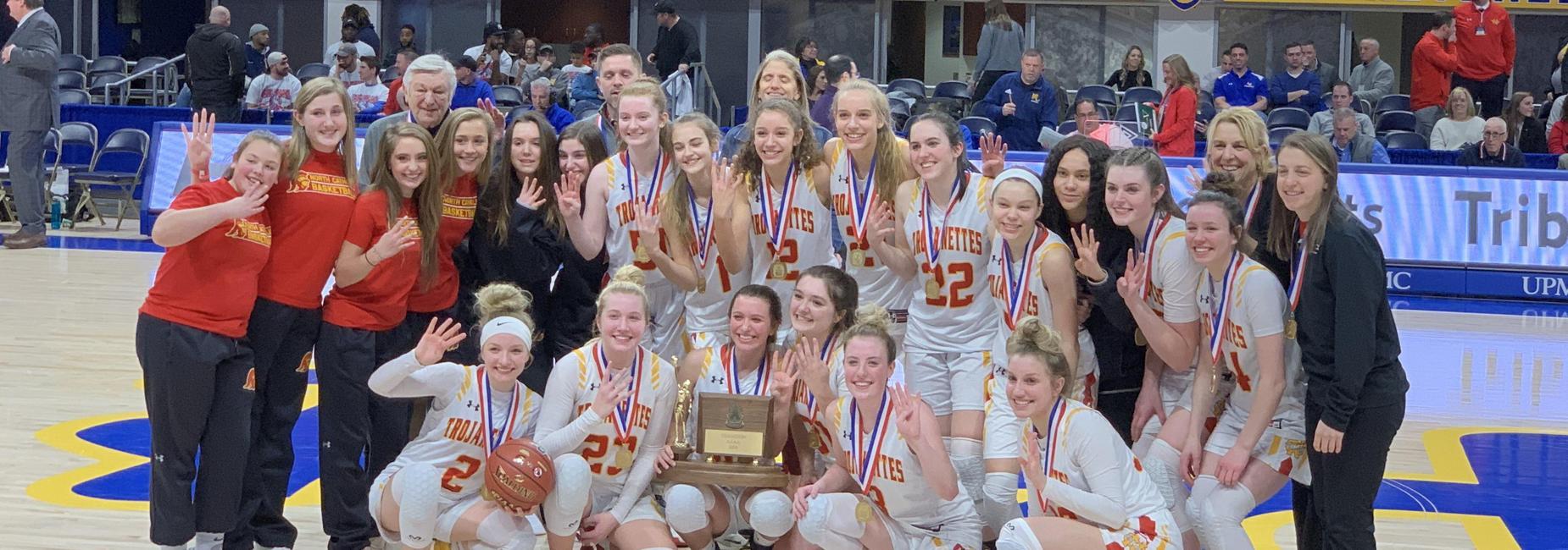 North Catholic Girls' Basketball Team WPIAL Champions