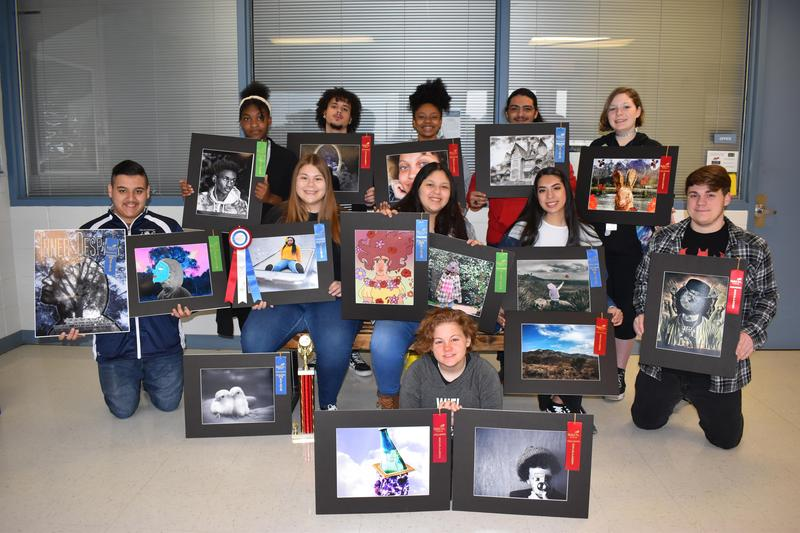 Photography students display their award winning work.