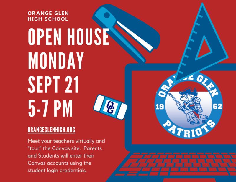 OGHS Open House Flyer