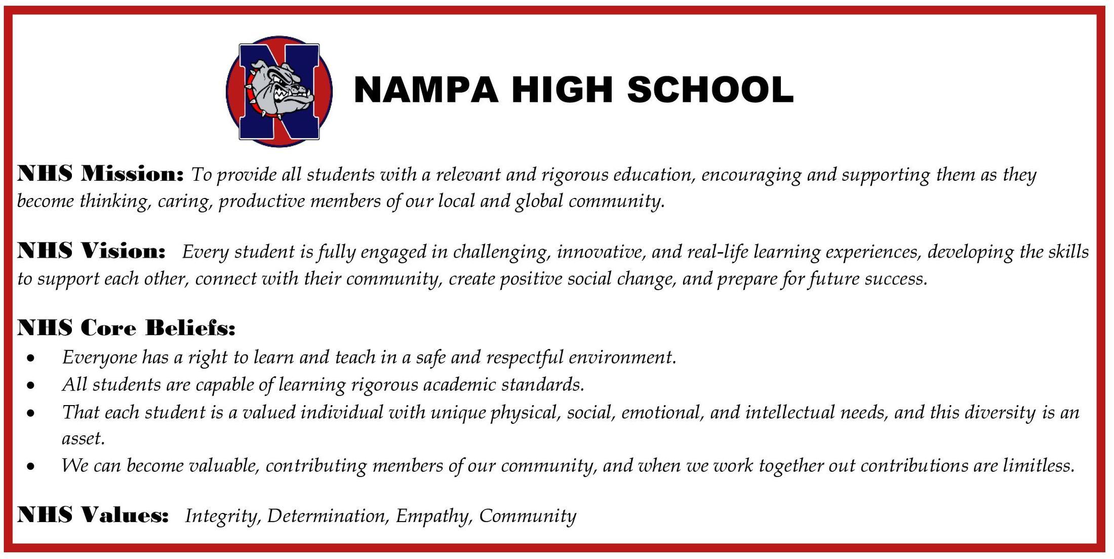 Daily Bulletin – Students – Nampa High School
