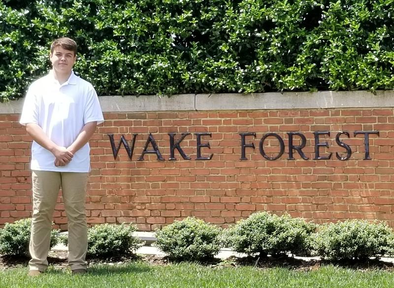 Wyatt Connelly, a rising freshman at B-L High School, attended the National Youth Leadership Forum's Explore STEM Camp June 23rd through 28th at Wake Forest University in Winston-Salem, NC.