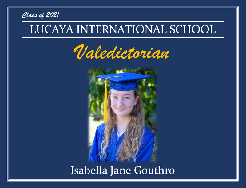 LIS Valedictorian Class of 2021 Isabella Gouthro Featured Photo