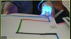 Ozobot on Gianna's zoom