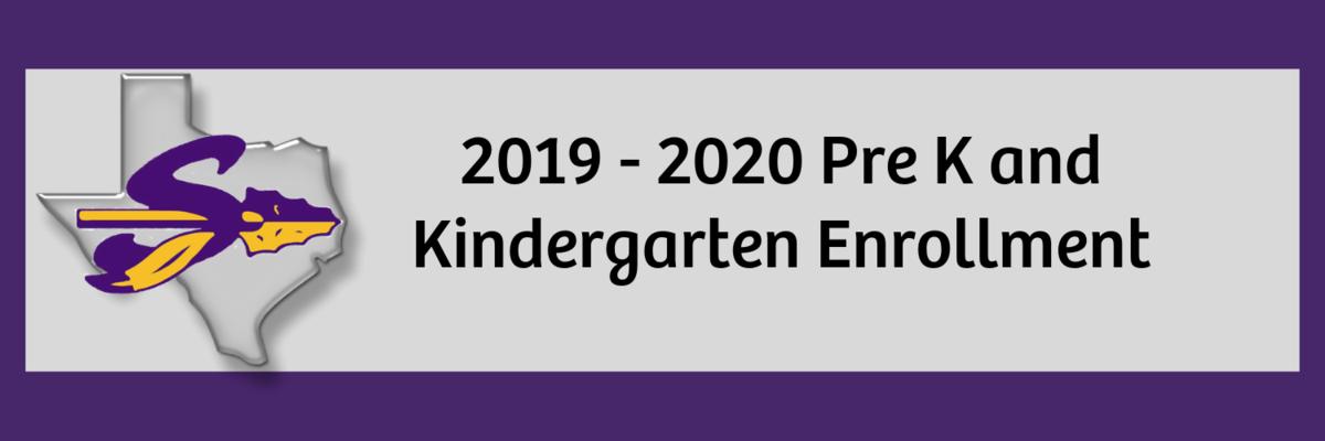 2019-2020 Pre K and Kindergarten Enrollment