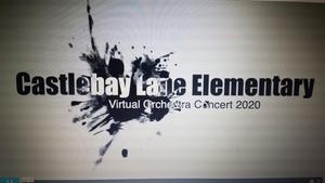 Virtual orchestra concert logo