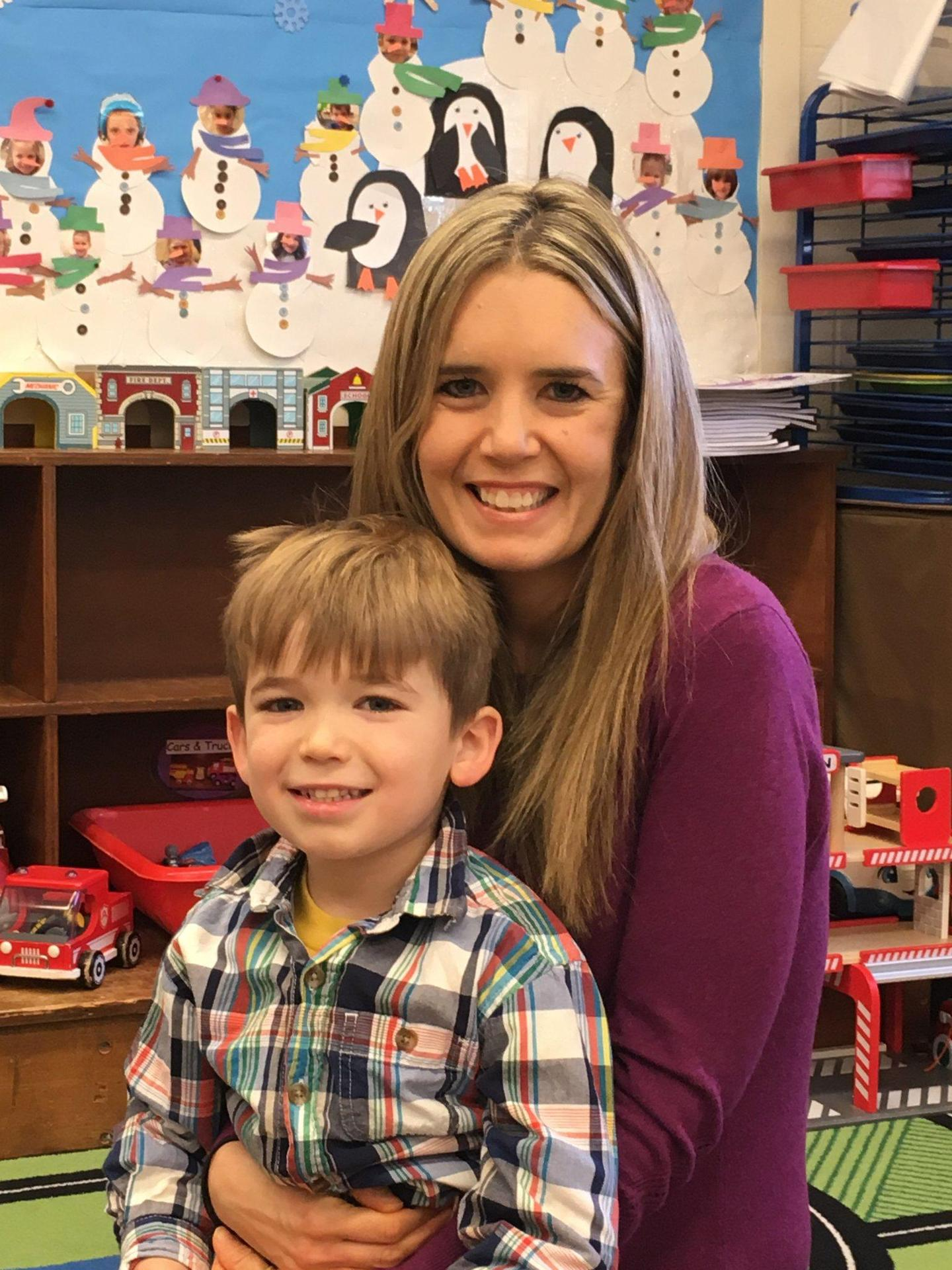 Mrs. Forcucci and my son, Chase