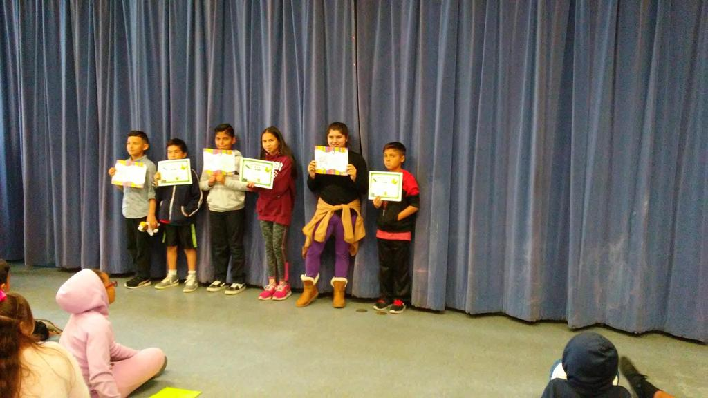 5Th grade February Students of the Month and BUG winners