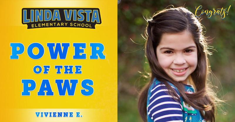 Congratulations to our Power of the PAWS student, Vivienne E.!