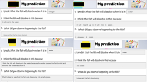 4 prediction worksheets
