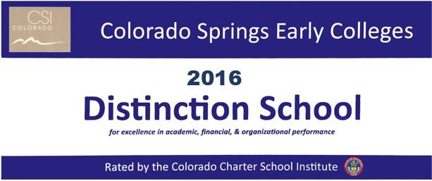School of Distinction Award 2016