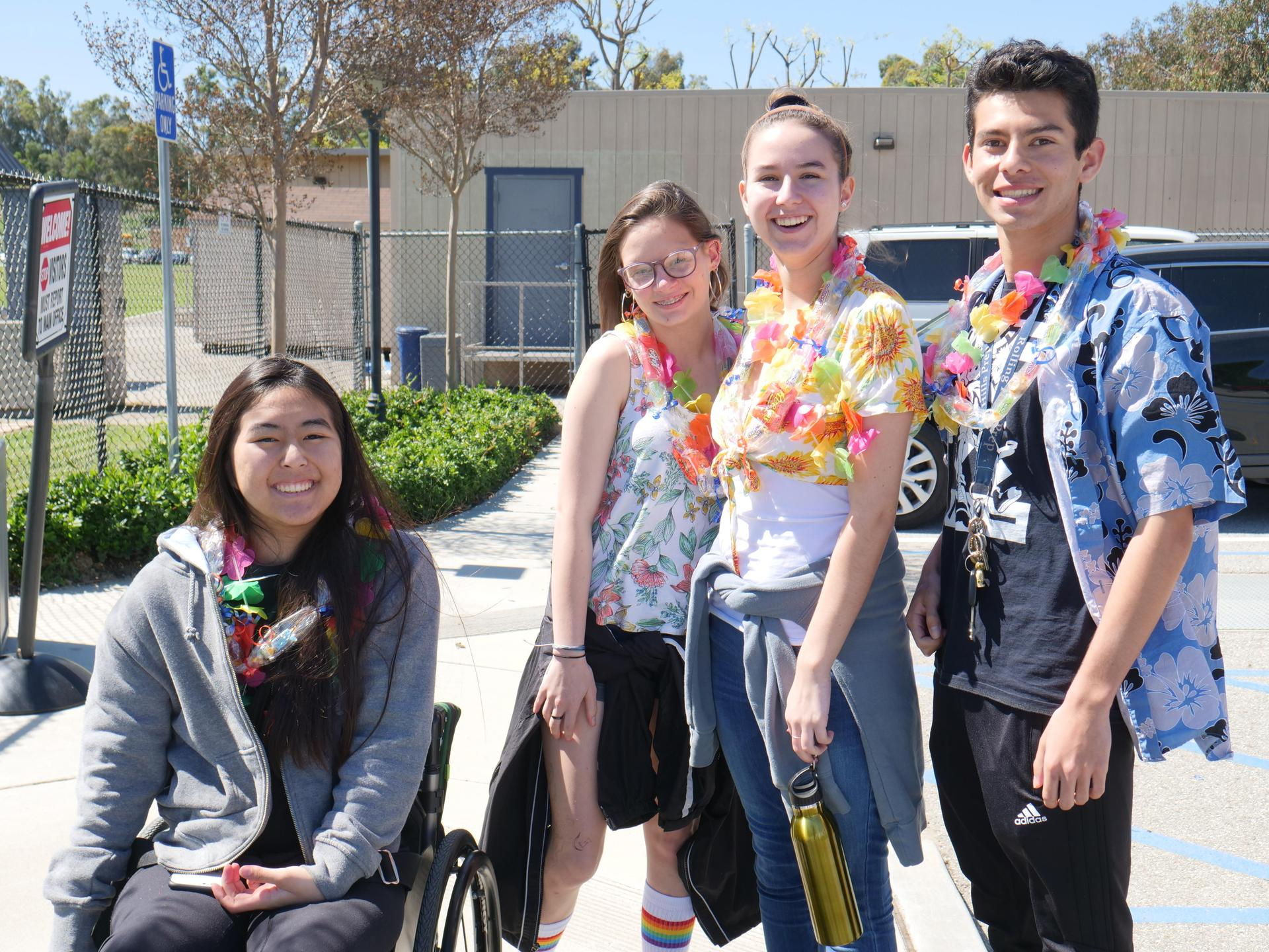 Seniors after their Senior Luncheon, a right of passage for all 12th grade students.