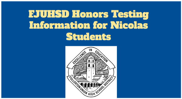 FJUHSD Honors Testing