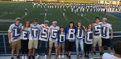 BUHS Student section at the first home football game.  Let's Go Bucs!