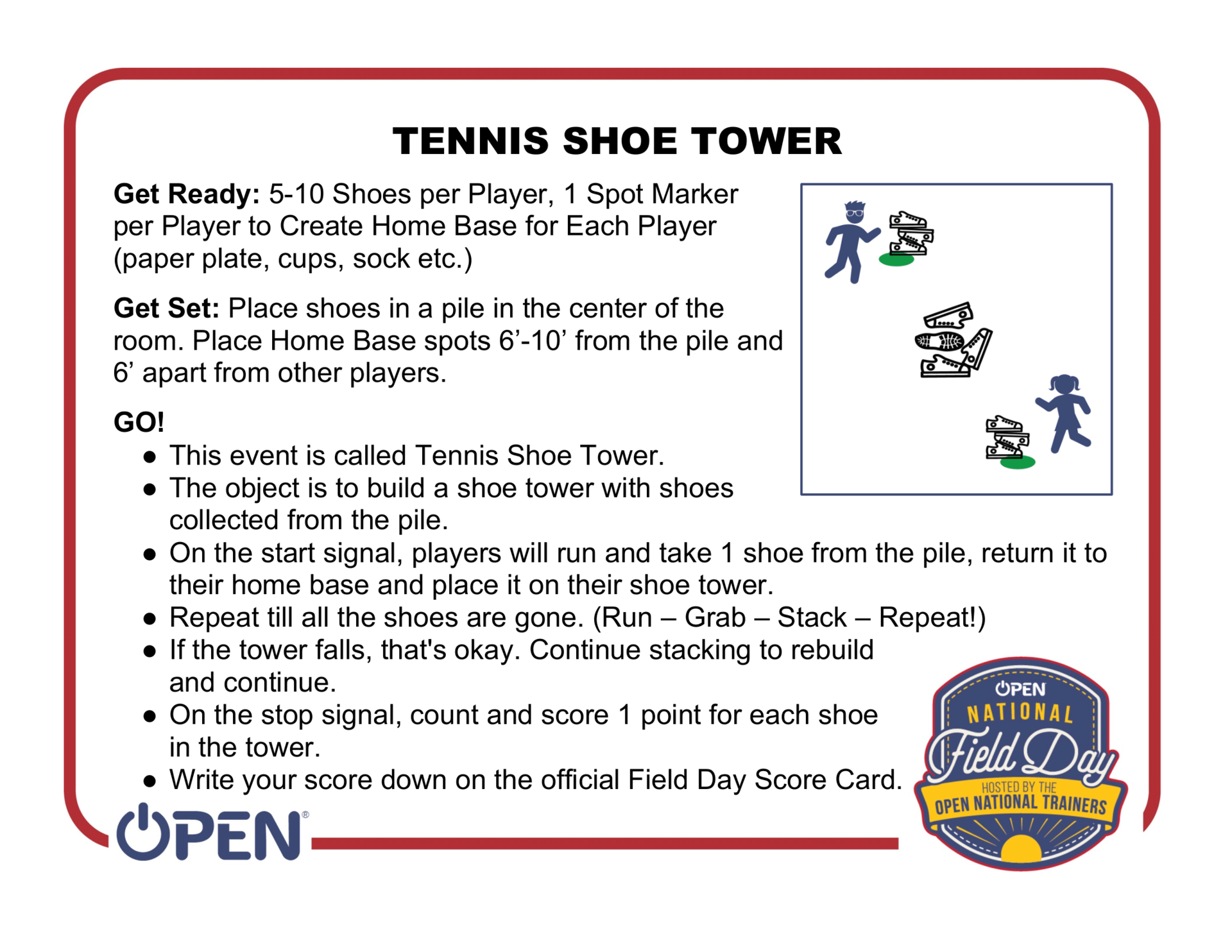 Tennis Shoe Tower