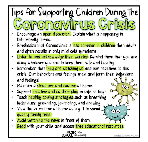 Tips for dealing with children and COVID19
