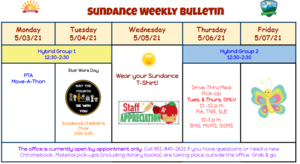 Sundance Weekly Bulletin 5/3/21