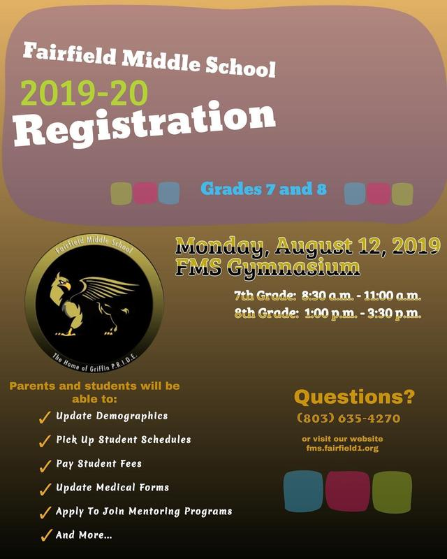 Poster about different activities during Registration