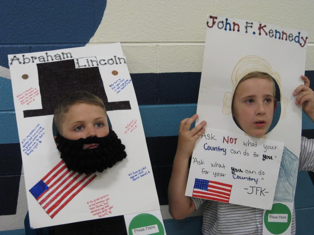 Wax Museum-Abraham Lincoln and John F. Kennedy