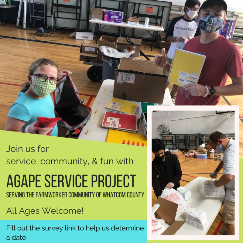 Agape Service Project, join us for a day of service this summer! Featured Photo