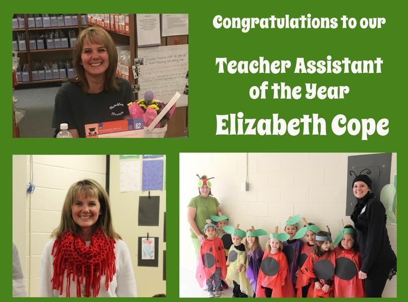 Image of our  Elizabeth Cope our teacher assistant of the year