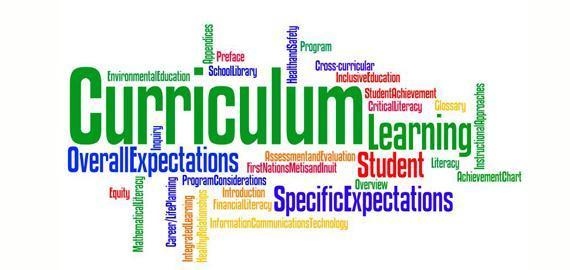 curriculum words clipart