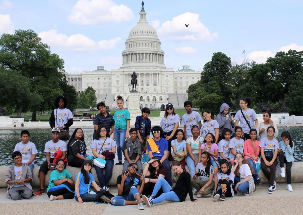 M.S.80 students posing in front of Capitol Hill