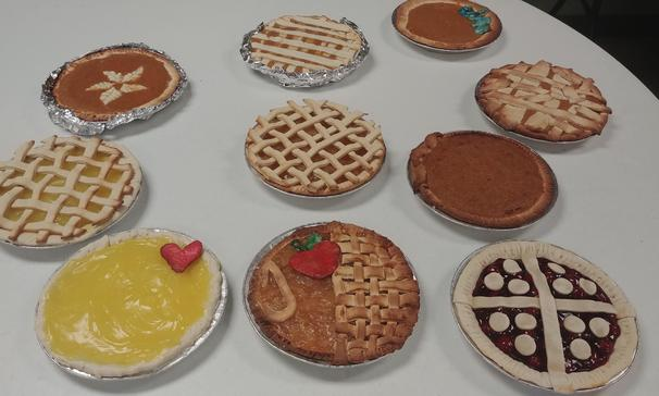Thanksgiving pies made by After Hours Prostart class.