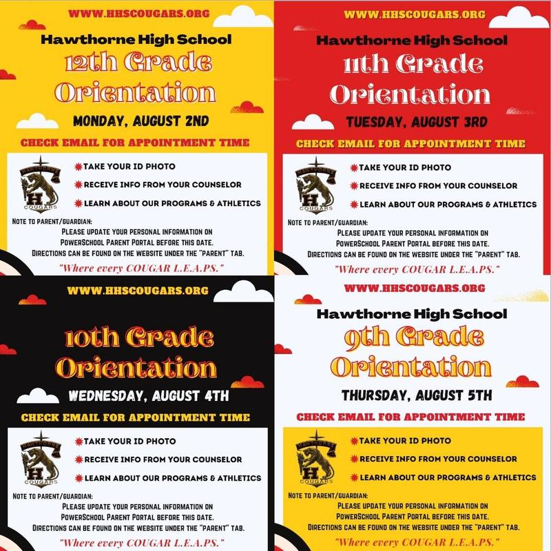 Join us for Grade Level Orientations