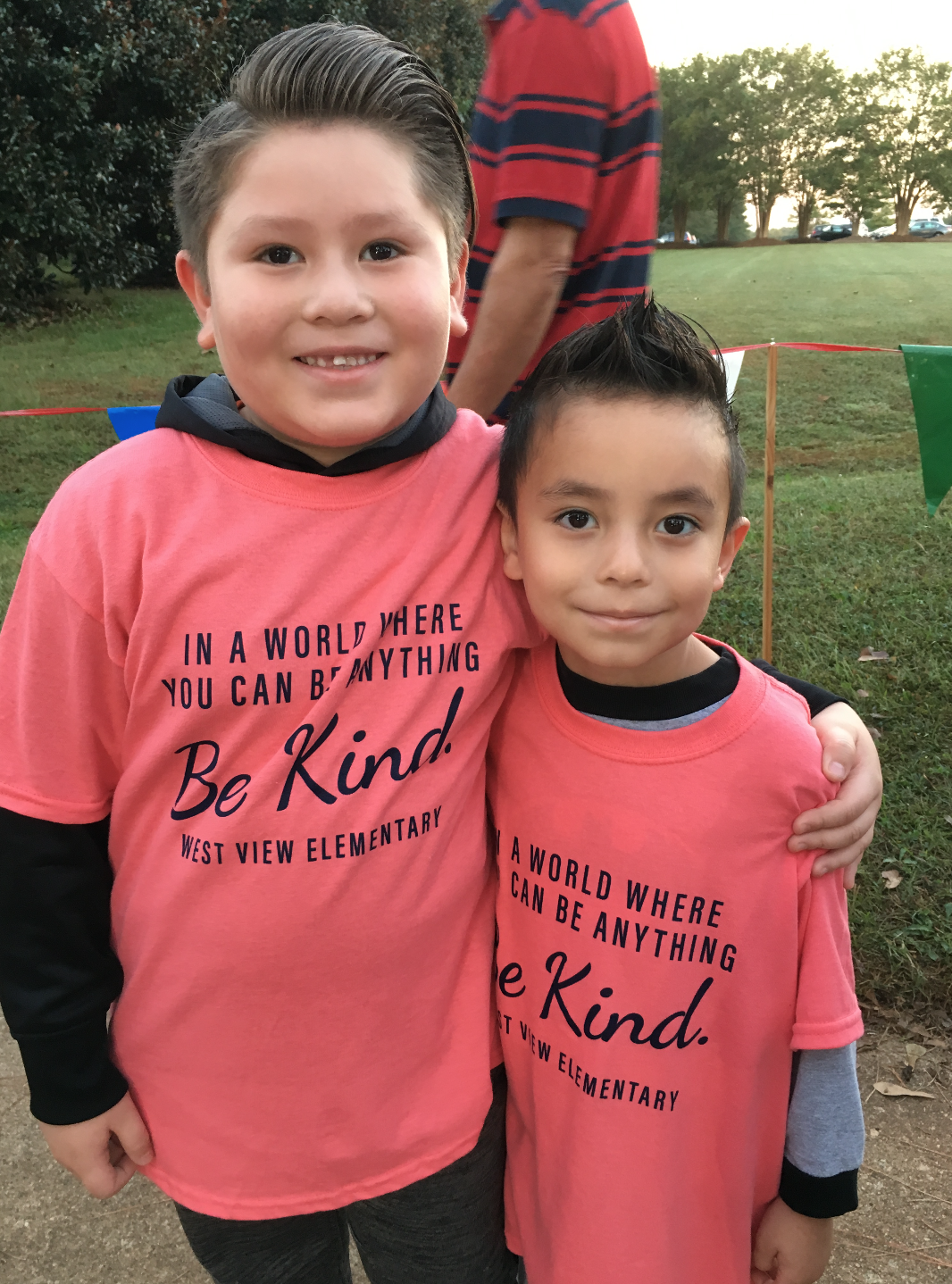 Two students who participated in Walk to School Day